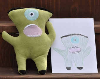 Custom Stuffed Animal from Child's Drawing Plush Toy