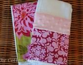 Baby Girl Burp Cloth Set
