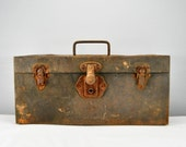 Farm Fresh Vintage Rusty Metal Toolbox