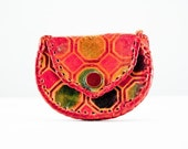 RESERVED for MONICA Small Vintage Leather Patchwork Coin Purse