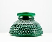 Cool Vintage Green Glass Hobnail Hurricane Lamp Shade
