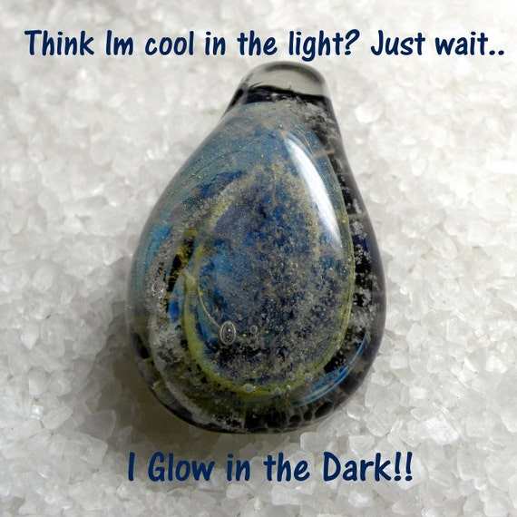Glass Pendant Starry Night Pendent GLOW in the Dark