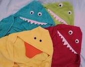 Hooded monster towel