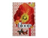 """Reserved: Journal entitled """"Bloom."""" Anthropologie Style with pink, yellow, orange, & red. 5 in by 7 in with 80 lined sheets."""