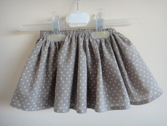 Clearance -- Skirt for Toddlers, polka dots, from 6m to 18m