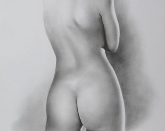 Female Nude Art, Order Nude Sketch, Nude Drawing, Nude Sketch, Pencil Sketch, Erotic Drawing, Body Nude Art, Classical, Made to Order (4/20)