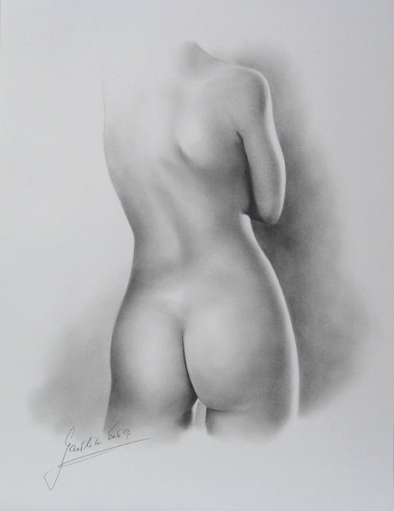 pencil drawings nude girl