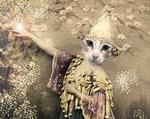 Zadkiel,Cat Print,Anthropomorphic,Whimsical Art,Collage Art,Vintage Cat,Animal Print,Photo Collage,Fantasy Art,Funny Animals,Unusual Gift