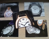 Recycled Envelopes- Fashionable Watches- set of 5