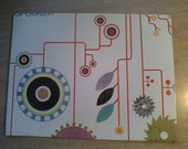 Large Upcycled Magazine Envelope- Abstract Colorful