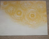 Large Upcycled Magazine Envelope- Yellow Sunshine