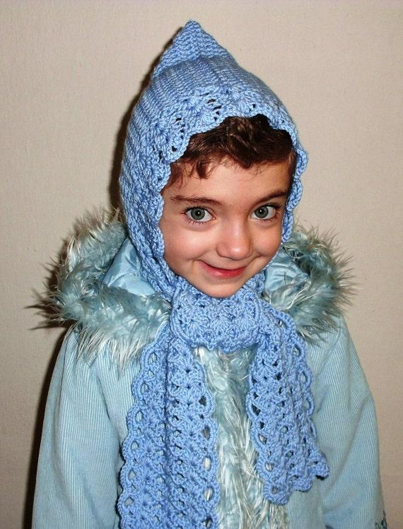 Crochet hooded shawl PDF PATTERN