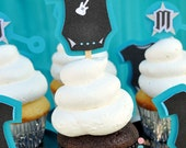 Rock A Bye Baby Shower Cupcake toppers
