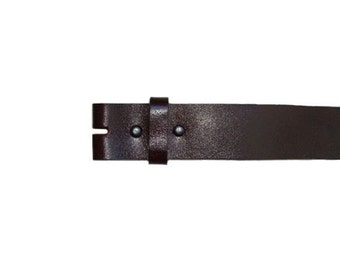 """Smooth Dark Brown 1.5"""" Wide Leather Belt - Available up to Size 40"""