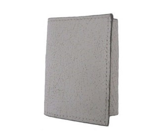 Handmade Trifold Top Flap Leather Wallet - Available in Distressed White