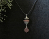 Lake Superior stacked stone drop necklace