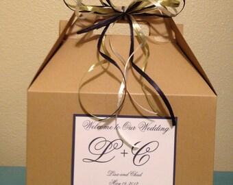 Wedding Welcome Boxes, With Monogram