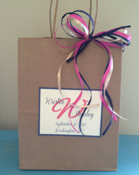 Reserved Listing for Karen, Wedding Welcome Bags With Monogram