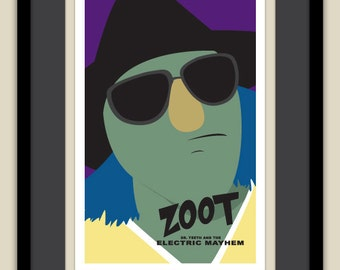 The Muppets - Zoot of the Electric Mayhem 12x18 Poster