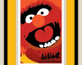 The Muppets - Animal of The Electric Mayhem 12x18 Poster