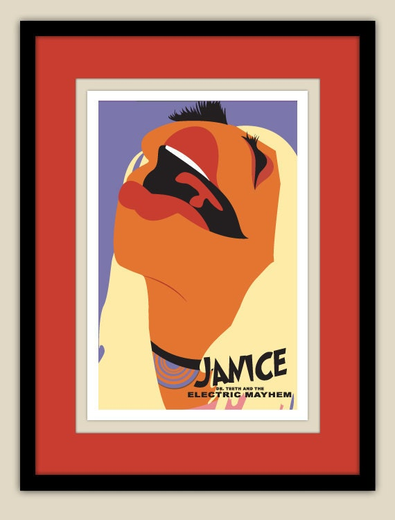 the muppets janice of the electric mayhem 12x18 poster