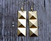 Pyramid Rectangle Earring