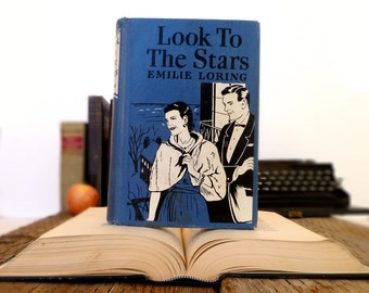 Vintage Kindle Cover or Nook Cover- Ereader Case made from a Book- Look to the Stars