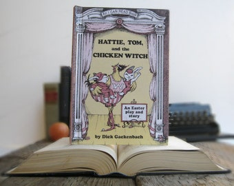 Kindle Cover or Nook Cover- Ereader Case made from a Book- Hattie, Tom and the Chicken Witch