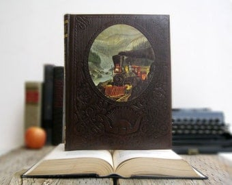 IPAD Cover- Tablet Case made from a Book- The Railroaders