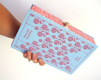 Book Clutch Purse- Sense and Sensibility- Jane Austen