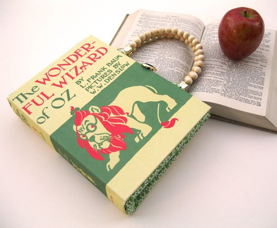 Book Purse Handbag and Kindle Ereader Cover- Wizard of Oz (with compact pocket mirror)