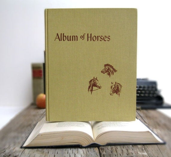 Reserved IPAD Cover- Tablet Case made from a Book- Album of Horses