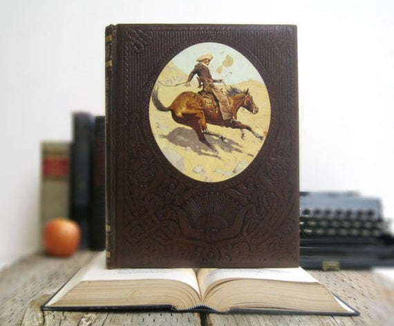 IPAD Cover- Tablet Case made from a Book- The Cowboys