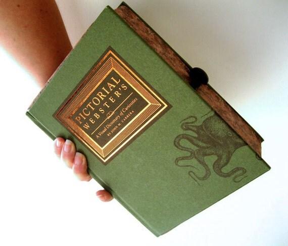 Book Clutch Purse- Dictionary