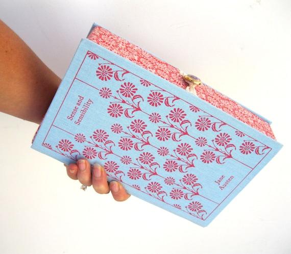 Book Clutch Purse- Sense and Sensibility- Jane Austen