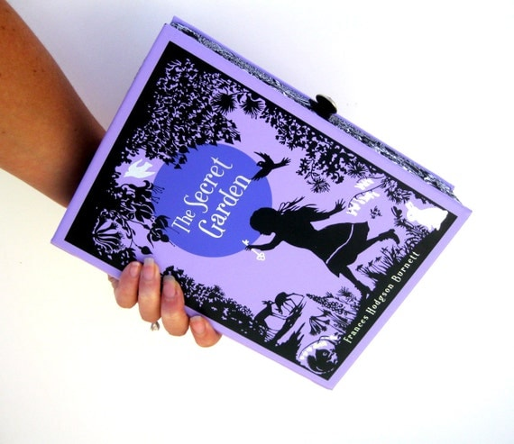 Book Clutch Purse- The Secret Garden