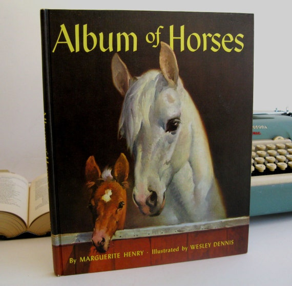 IPAD Cover- Tablet Case made from a vintage Book- Album of Horses