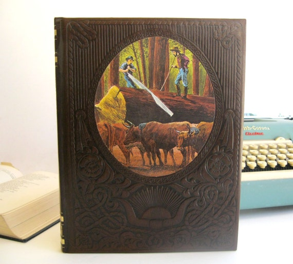IPAD Cover- Tablet Case made from a vintage Book- The Loggers