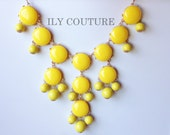 Yellow Bubble Bib Necklace