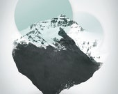 Mt. Everest - The Surreal North Face - Graphic Art Print for Poster Fine Art Print