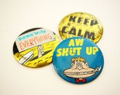 VINTAGE pin-back BUTTONS