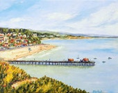 Capitola By The Sea -  matted print of my original painting