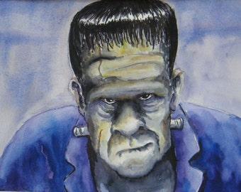Home Decor - Frankenstein - matted art print