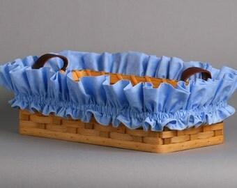 Large Blue Basket Garter