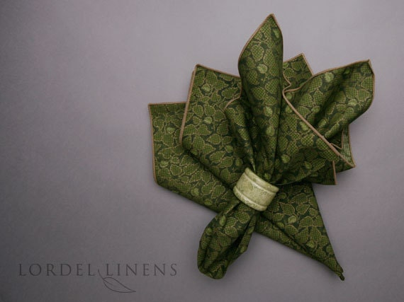 RESERVE LISTING for Kimberly Bales - Green Leaf Napkins great for summer or fall