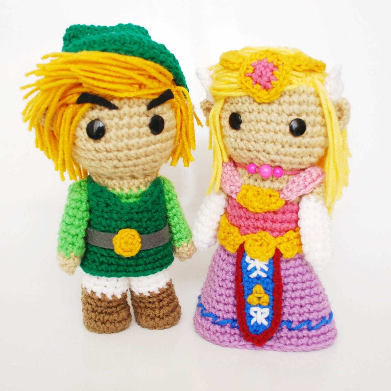 Amigurumi Link Pattern : Link and Zelda. FREE SHIPPING. Crochet Amigurumi Plush Dolls