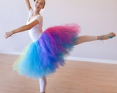 Teen Adult Short Rainbow Ballet Tutu Skirt - Wedding - Ballet - Photo Shoot - CUSTOM COLORS