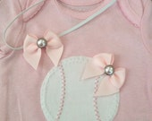 Infant Toddler Pink Baseball Onesie & Matching Headband - Other Sports Available Upon Request