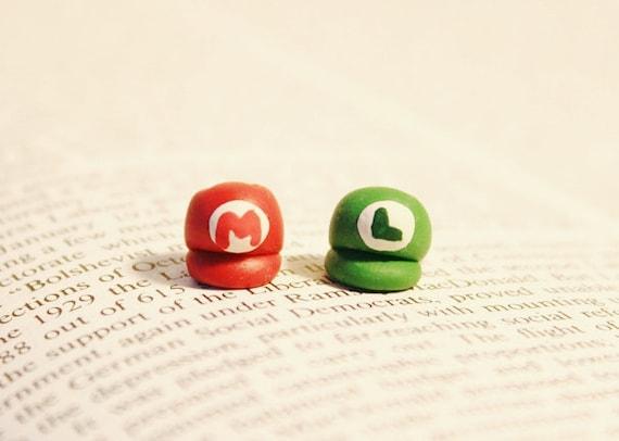 Mario & Luigi Hat Nintendo Earrings