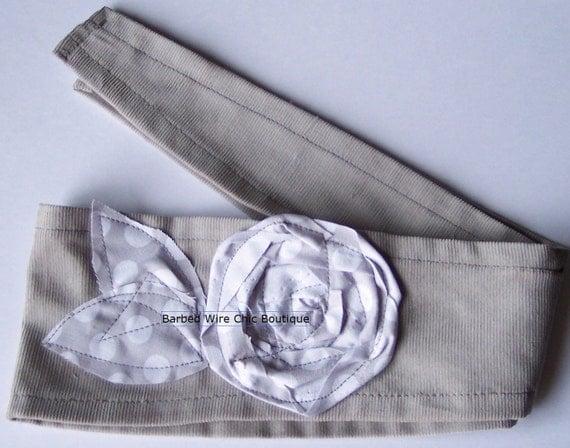 Fabric Headband-grey